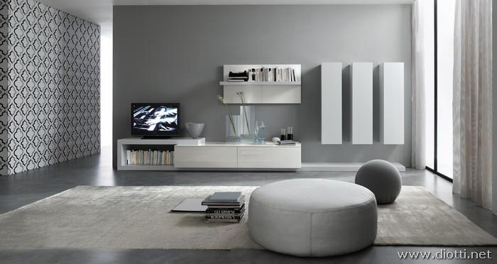Collezione Day con pareti attrezzate moderne bianche  DIOTTI AF Arredamenti