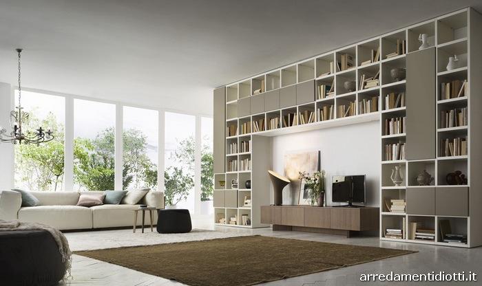 Libreria My Space moderna con contenitori  DIOTTI AF
