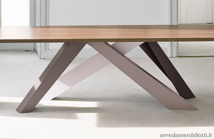 Tavolo fisso Big Table gambe colorate  DIOTTI AF Arredamenti