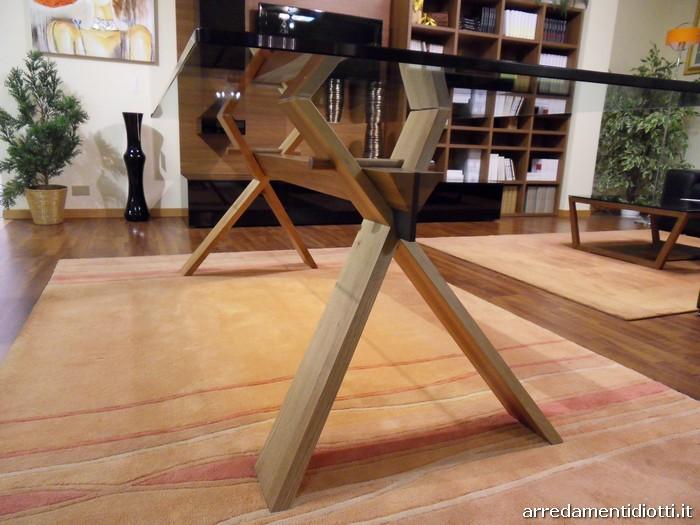 Tavolo Cavalletto rettangolare con struttura a incastri