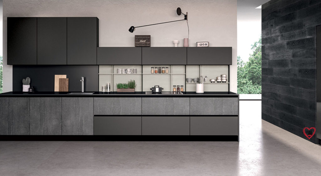 cucine lineari moderne offerte  Arredamenti Meneghello