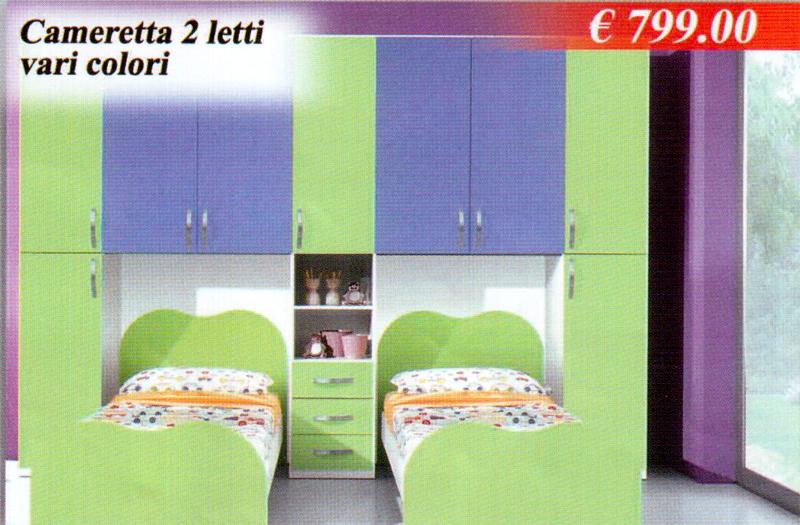Camerette Junior  Cameretta 2 letti