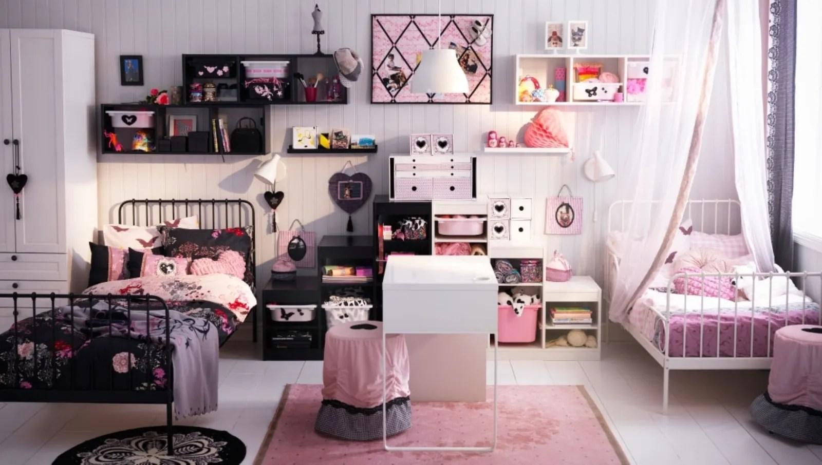 Camere per ragazzi, camere moderne per ragazzi, camere componibili per giovani, camere moderne per teenager con scrivania e libreria. Cameretta Ikea Soluzioni Allegre E Colorate