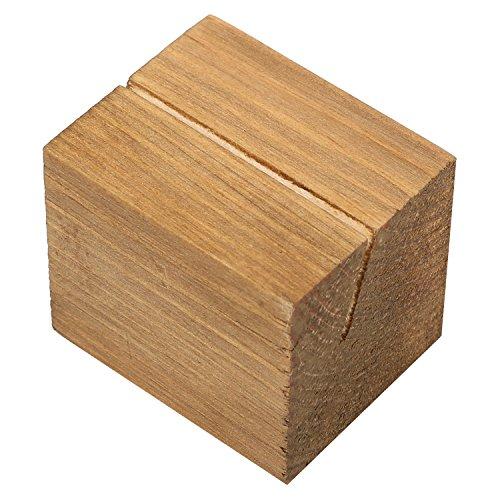 10pezzo rustico tavolo rettangolare in legno naturale segnaposto, Altro, Beige, small