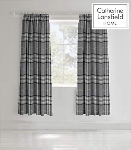 Catherine Lansfield Kelso Cotton Rich Single Duvet Set Charcoal