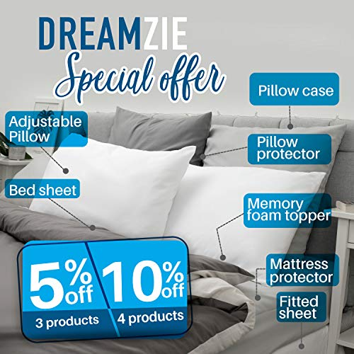 Dreamzie ⭐ Set di 2 x Federa Cuscino 50 x 80 cm, Grigio Antracite, Microfibra (100% Poliestere) - Federe - Federe Cuscino - Federa Cuscini Letto qualità Confortevole Ipoallergenica