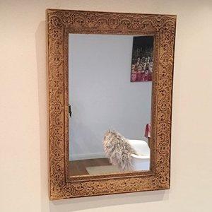 Frida's Landleben Specchio da Parete Ornament Brown Rettangolare Shabby Vintage Nostalgia Country House