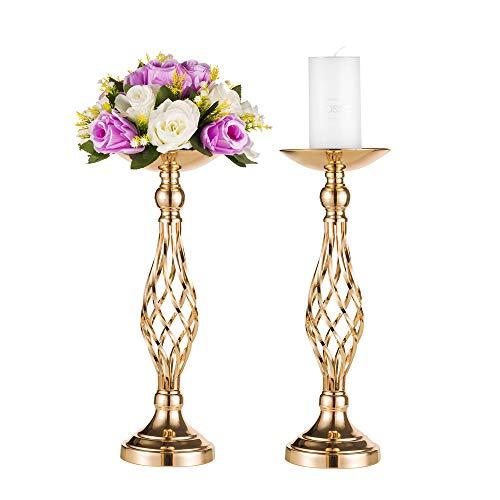 Oggetti per feste/matrimoni, vaso da tavolo dorato, portacandele in ferro battuto, stand di fiori per la tavolo principale/scrivania di accesso
