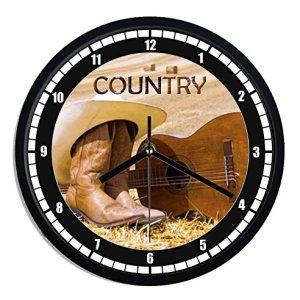 Orologio da parete in plastica Country music
