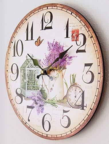 Perla pd design, orologio da parete da cucina, design giardino primaverile, diametro ca. 28cm