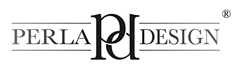 Perla PD Design vetro orologio da parete orologio al quarzo Vintage Design ca. Ø 30cm, Vetro, Carta geografica