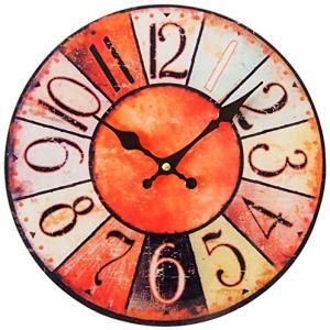 Perle pd design orologio da parete in vetro orologio al quarzo Vintage Design Shabby ca. Diametro: 30 cm