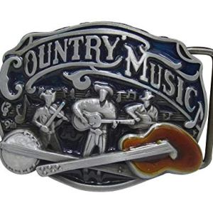 Gnrique Fibbia da cintura country music cowboy chitarra banjo