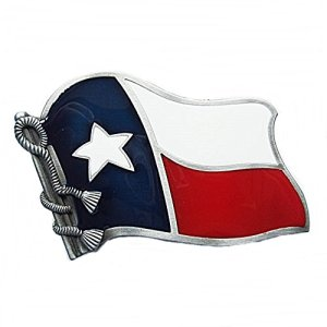Westernlifestyle Fibbia per cintura fibbia per cintura bandiera Texas Lone Star Country Line Dance