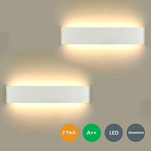 2 Pezzi LED Lampada da Parete 16W Bianco Caldo Moderno Up Down Applique da Parete con 110V260V Interni Lampada a Muro per Bagno Lampada Soggiorno Camera da Letto Scale Corridoio Luce Notturna