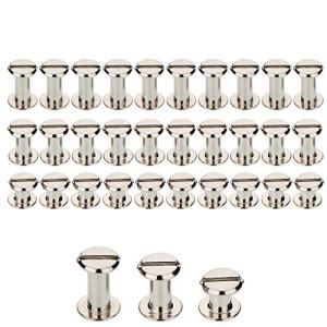 75set Silvery Chicago viti assortiti kit 5MMX6MM5MMX8MM5MMX10MM vite di chiusura in metallo accessori decorativi in pelle nail Rivet Chicago Button per rilegature testa piatta a perno a vite