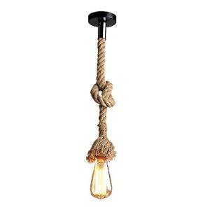 Base lampadine lampadario pendente Lampada a sospensioneLampadario in bamb e corda di canapa Per Ristorante Bar Cafe Senza Lampadina 1light