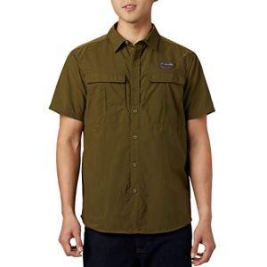 Columbia Cascades Explorer Camicia a maniche corte Uomo Verde New Olive XXL Art 1586261
