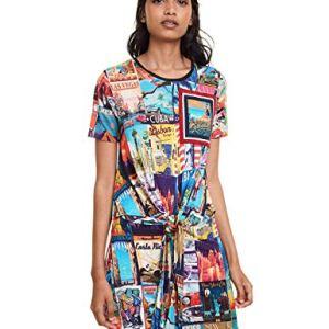 Desigual Dress Phoebe Vestito Multicolore Tutti Fruti 9019 XSmall Donna