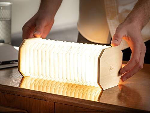 Gingko  Lampada da scrivania a LED con finitura effetto legno naturale ricaricabile con caricatore micro USB vari stili moderno acero