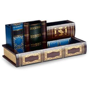 ISOTO  Portapenne in legno stile retr a forma di libro per casa ufficio scrivania multifunzione idea regalo