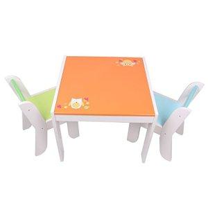 labebe Mobili Bambini di Tavolo Bambino di Gufo Arancione Set Tavolino Bambino Legno per 15 Anni Tavolino Legno BambinoTavolo Gioco BambinoTavolino Multiattivita LegnoTavolino Gioco Bambino