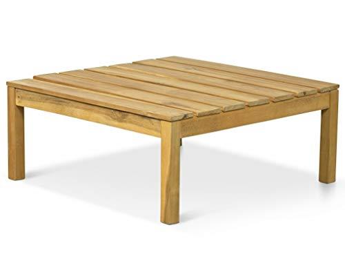 LANTERFANT 7439623653691 Tavolo da Giardino Suus tavolino Laterale Quadrato Legno di Acacia Colore Teak Marrone 65 x 65 x 27