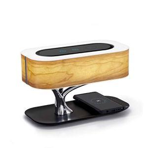 Masdio Lampada da Notte con Altoparlante Bluetooth e Caricatore Senza Fili Modalit da Sonno a Regolazione Continua