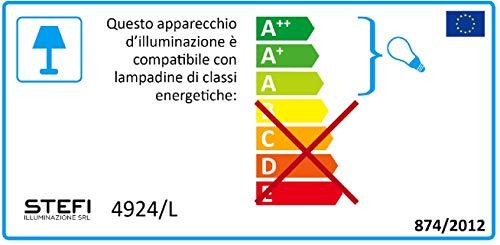 ONLI Lampada da Tavolo in Metallo Farfalle dipinte Vetro Trasparente BiancoRosa