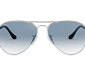 RayBan RB3025 Aviator Occhiali da Sole Unisex Adulto Argento Silber 0033F 55 mm