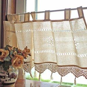 Silvercolor tenda corta tenda scorrevole per caff bistrot decorazione domestica