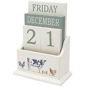 The Leonardo Collection Country Life Farm  Calendario perpetuo in Legno da scrivania per Ufficio casa
