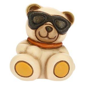 THUN  Teddy Emoticon Occhiali da Sole  Idea Regalo  Linea Teddy Emoticon  Formato Mini  Ceramica  39x36x42 h cm