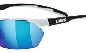 Uvex S5309398216 Occhiali Unisex Adulto White Black Mat Litemirror Blue Litemirror Orange Clear 3 1 0