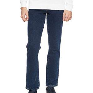Wrangler Texas Contrast Jeans con la Gamba Dritta Uomo Blu Blue Black 001 42W  30L