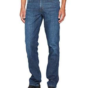 Wrangler Texas Contrast Jeans con la Gamba Dritta Uomo Blu Night Break 37W 33W  34L