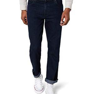 Wrangler Texas Contrast Jeans con la Gamba Dritta Uomo Blu Blue Black 002 36W  32L
