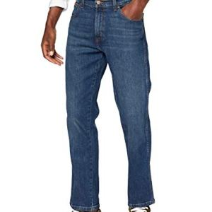 Wrangler Texas Contrast Jeans con la Gamba Dritta Uomo Blu Indigo Wit 25F 34W  30L