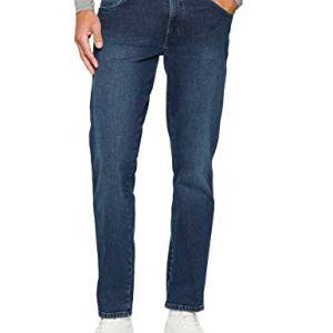 Wrangler TEXAS TONAL Jeans Uomo Rosso Bonfire Blue 34k 34W  32L