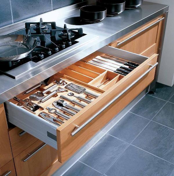 porta posate cucina vasche contenitive plastica legno