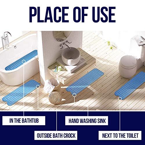 10040 cm Tappetino per il bagno Tappetino per vasca da bagno antiscivolo con ventose Multiuso Bath Mat Materiale PVCTappetino di Lusso Antiscivolo ed Antibatterico per Doccia Blu