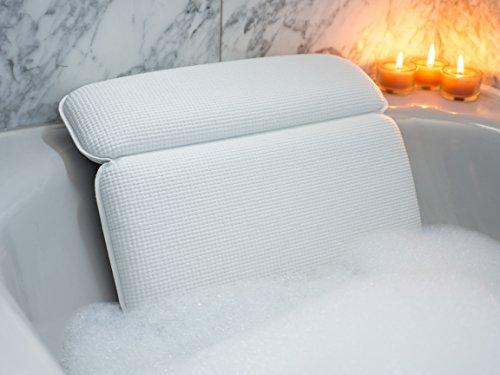 LXJLXJ Vasca da Bagno Cuscino Anti-Skid poggiatesta con Cuscino Spa Tazza di aspirazione Spa Impermeabile Cuscino Accessori per Il Bagno per casa Hotel