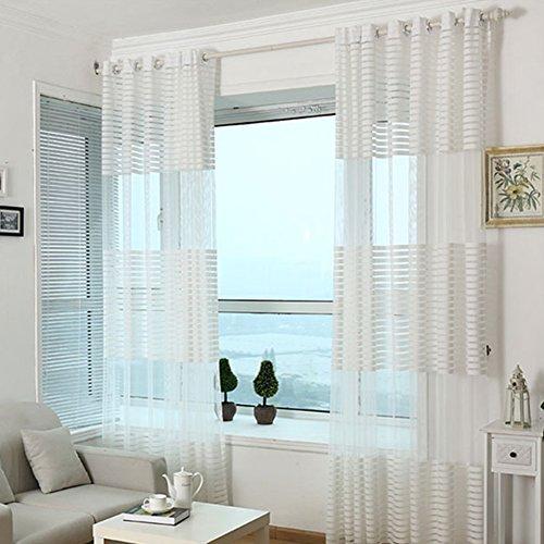 AIHOME tenda mantovana in voile per porte e finestre di camera da letto soggiorno bagno finestra dimensioni 1 x 27m White