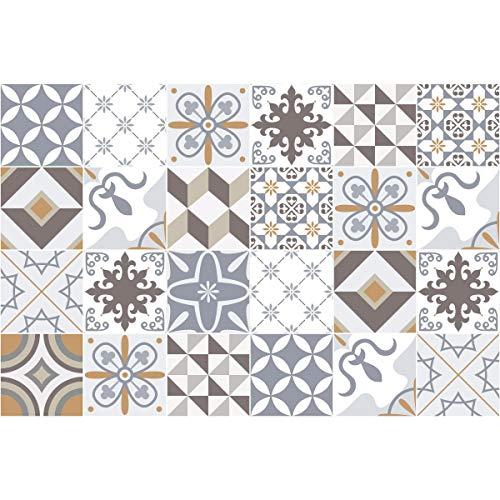 AmbianceLive Piastrelle adesive per PareteTipo azulejos20x 20cm 24Pezzi Imitazione Cemento