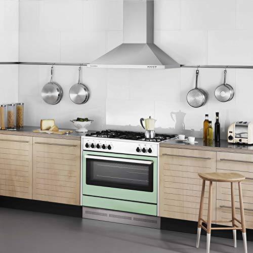CIARRA Cappa aspirante Versione migliorata 90 cm 550 m  h100W Cappa da Cucina in Acciaio Inox Luce a LED e 3 velocit