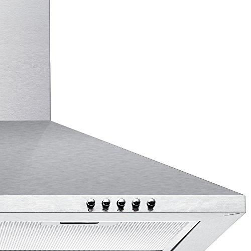 Ciarra cappa da cucina 60cm in acciaio inossidabile argento