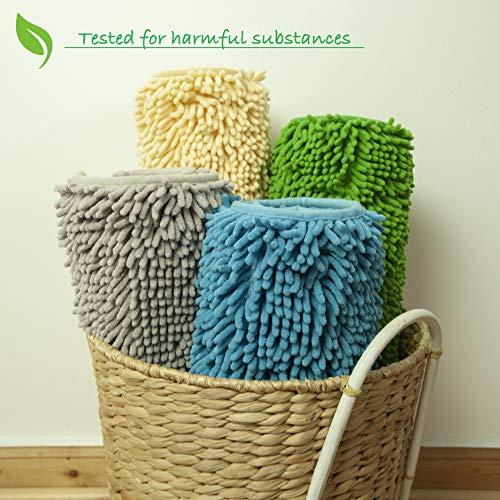 dffhome Tappetino da Bagno Antiscivolo e Assorbente Tappeto per Doccia per Bagno Lavabile in Lavatrice Extra Morbido Microfibra Chenille 50x80cm Verde