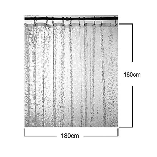 Echoice Tenda da Doccia in EVA Impermeabile Tenda per Bagno con 12 Ganci in Acciaio Inossidabile 180 x 180cm Trasparente