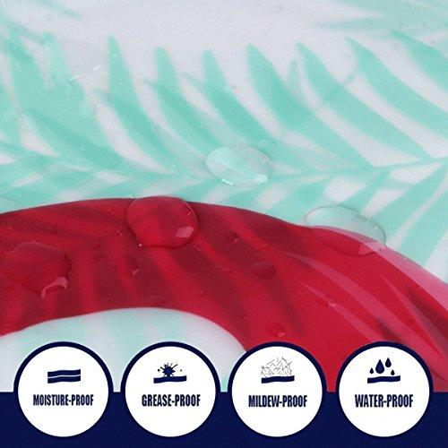 FuXing Impermeabile e Muffa Resistente PEVA Tenda da Doccia Fenicottero Stampato in Digitale Con Disegno Elegante Tenda da Bagno Accessori da Bagno180 cm x 200 cm Fenicotteri