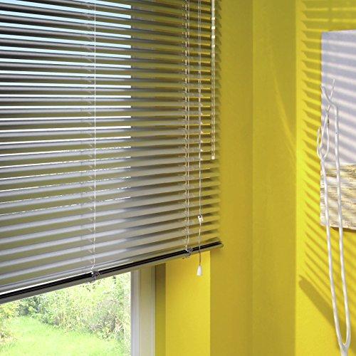 GARDINIA Veneziana in alluminio Visibilit Protezione dalla luce e ai raggi solari Fissaggio al muro e al plafone Kit di montaggio incluso Argento 80 x 130 cm LxA